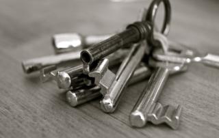 Schlüsselbund (schwarz/weiß)